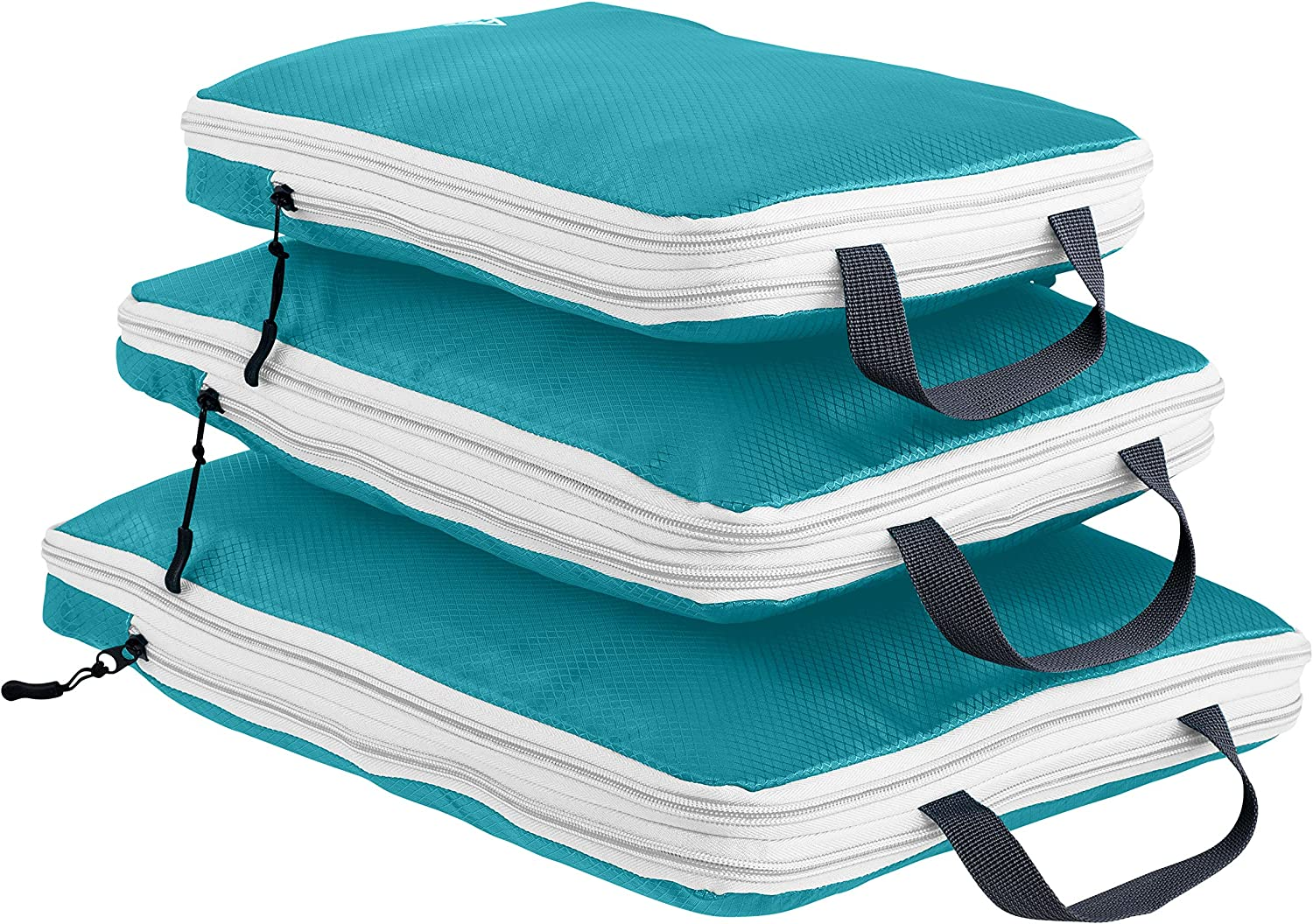Suitcase Organizer /& Backpack Organizer with Space Saver Travel Bags for Packing Clothes Travel Gear /& Travel Accessories Luggage Organizer 3pc Compression Packing Cubes for Travel Well Traveled