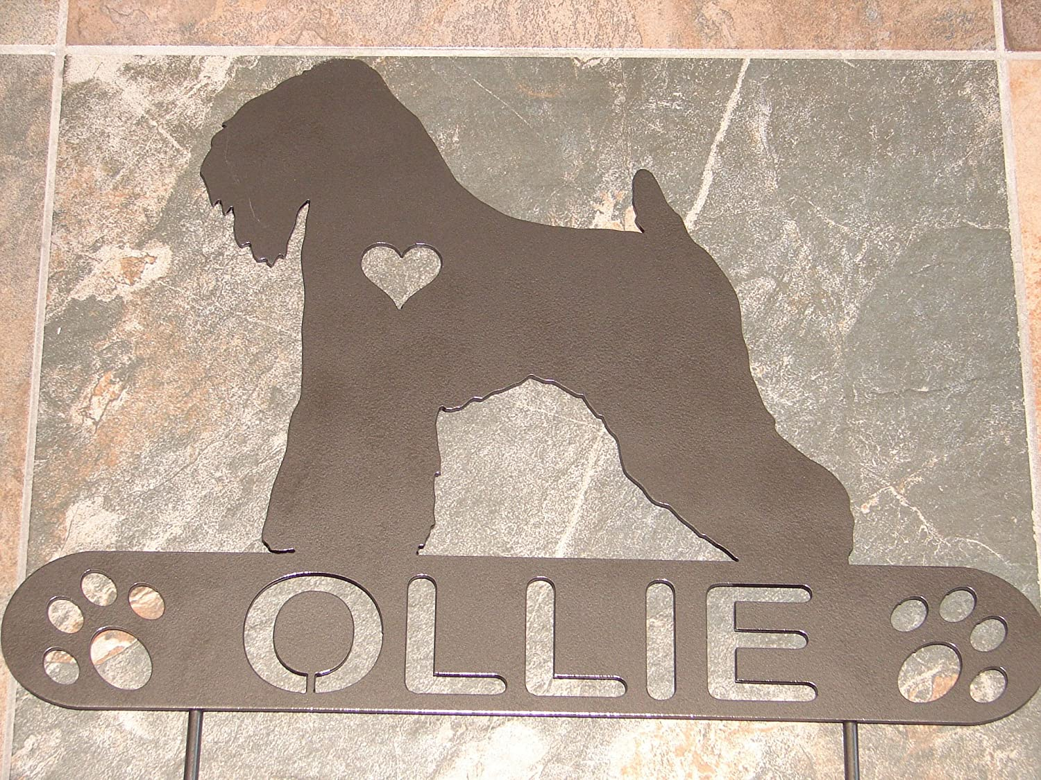 Soft Coated Wheaton Terrier Personalize Pet memorial Garden Stake Dog