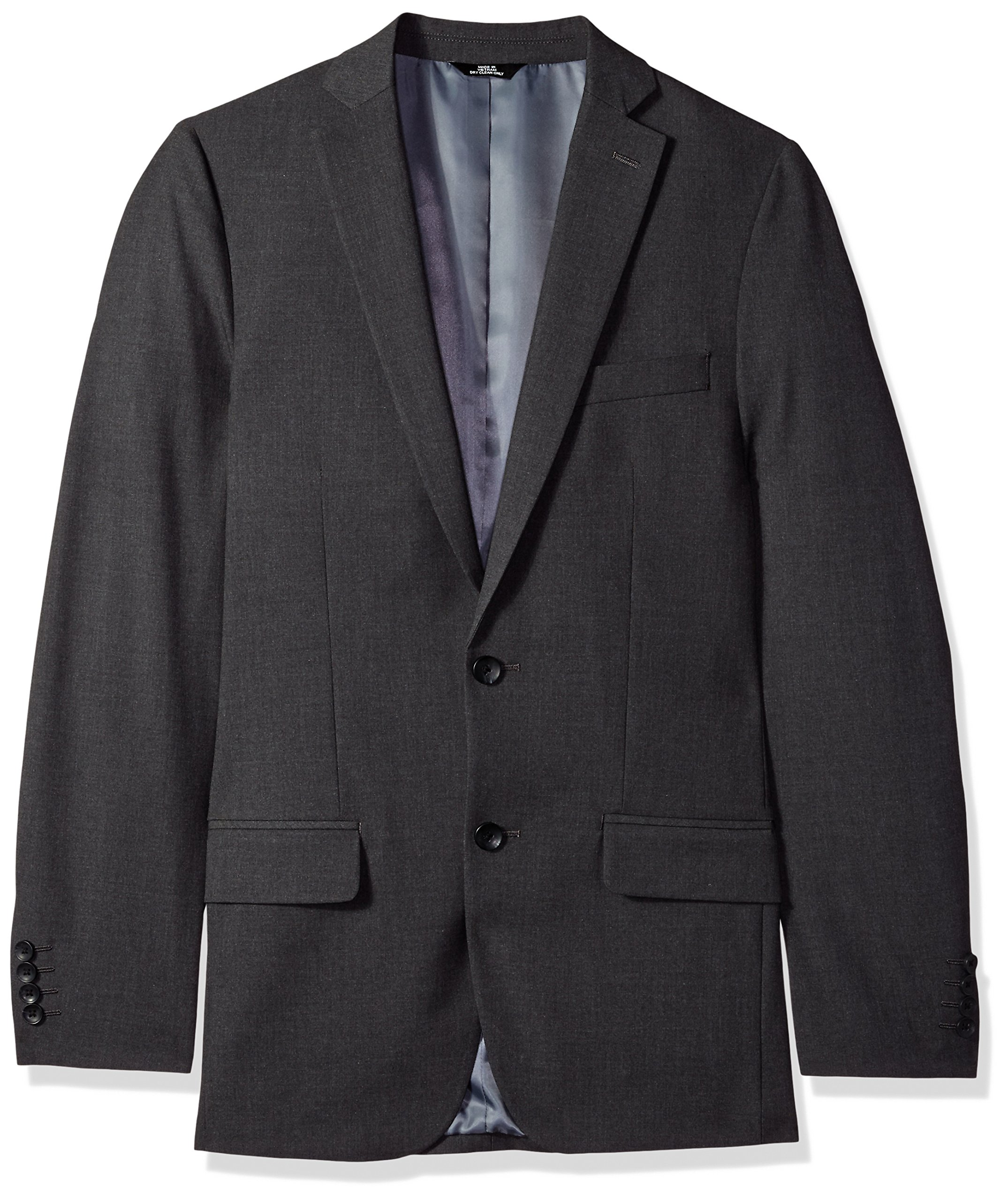 J.M. Haggar 4-Way Stretch Solid 2-Button Slim Fit Suit Separate Coat,  Charcoal Heather,  42XL