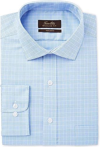 Tasso Elba - Camisa de vestir para hombre, sin planchar, con ...