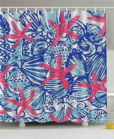 Lilly Pulitzer Sea Prints Starfish Custom Shower Curtain 60u0026quot; ...