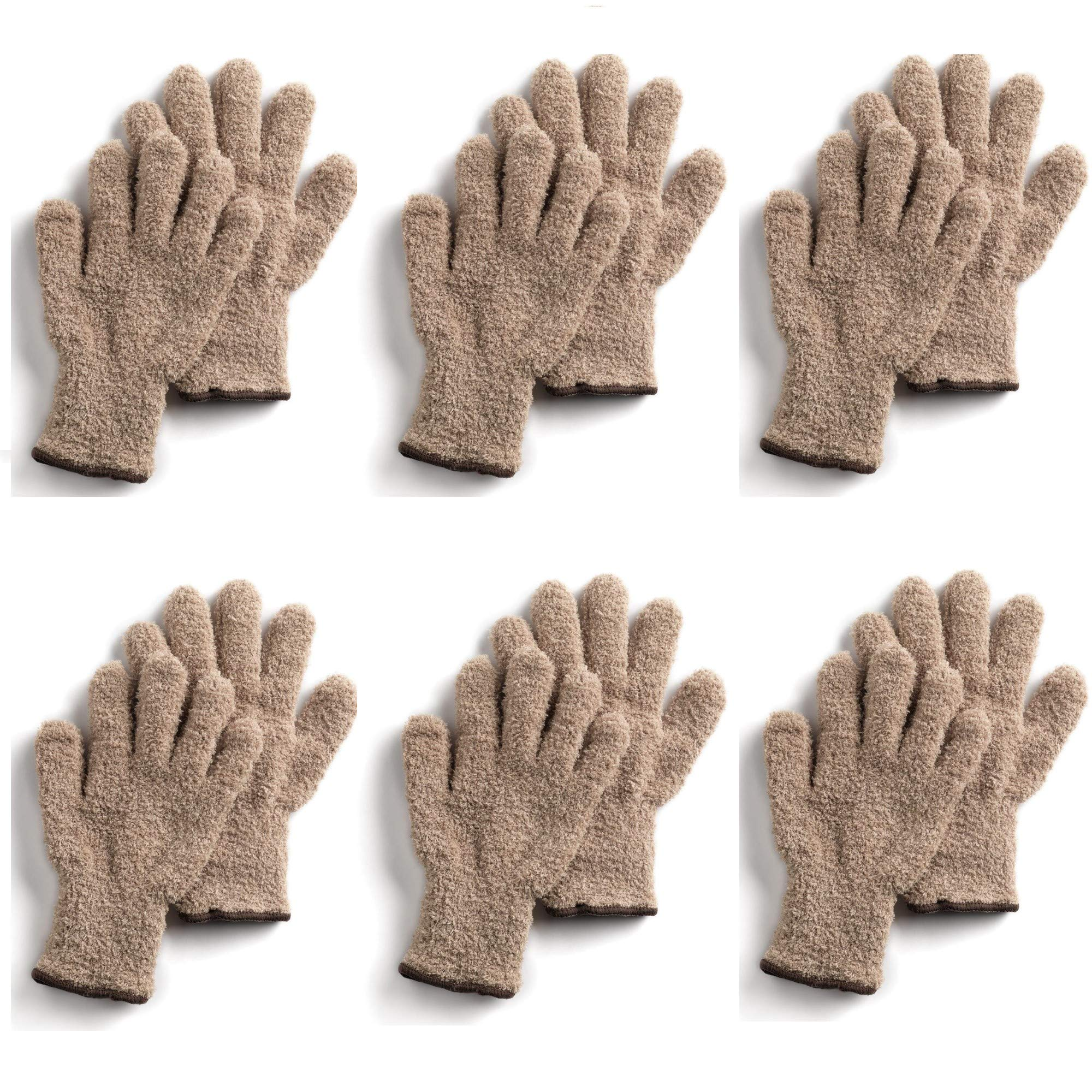 CleanGreen Microfiber Cleaning and Dusting Gloves (6 Pack) by Master Caster