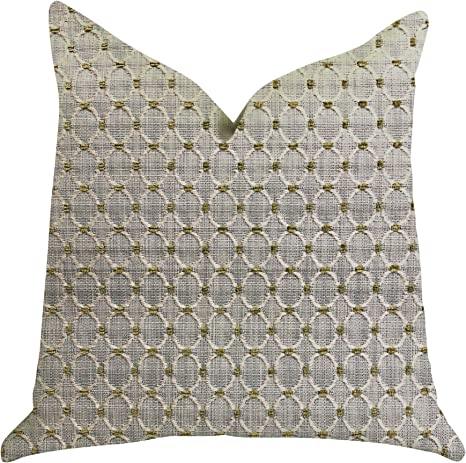 Amazon Com Plutus Brands Circular Ringed Double Sided Luxury Throw Pillow 12 X 25 Gay Beige Home Kitchen