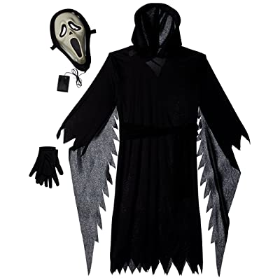 Scream - Lite-Up Ghost Face Child Costume: Toys & Games