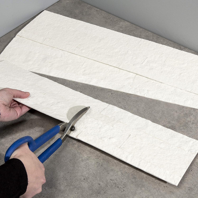 Aspect Peel and Stick Stone Overlay Kitchen Backsplash Easy DIY Tile Backsplash 5.9 x 23.6 Panel, Ivory Marble
