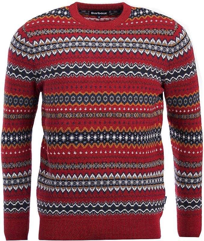 smuts billigt premium urval topp design Barbour Men's Case Fairisle Sweater (Rich Red, Small) at Amazon ...