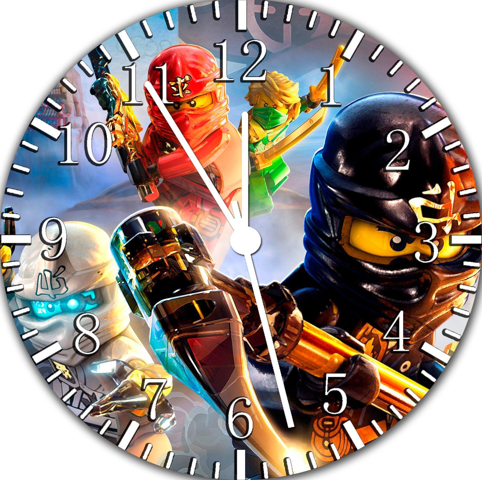 Lego Ninja Ninjago Frameless Borderless Wall Clock F82 Nice For Gift or Room Wall Decor