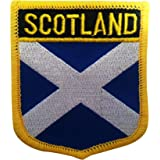 "Scotland Flag Emblem Patch/UK British Sew-On or Iron-On Tactical Morale Patch (Scottish Crest, 2.75"" x 2.35"")"
