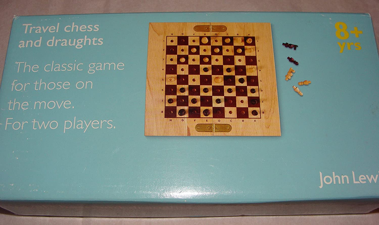c95affa8a2e John Lewis Wooden Travel Chess   Draughts  Amazon.co.uk  Toys   Games