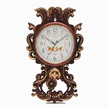 Shopigator Modern Designer Look Pendulum Wall Clock, Designer Clock, Watch  For Home, Wall Clock / Watch For Office Or Home ( Antique, Gold )