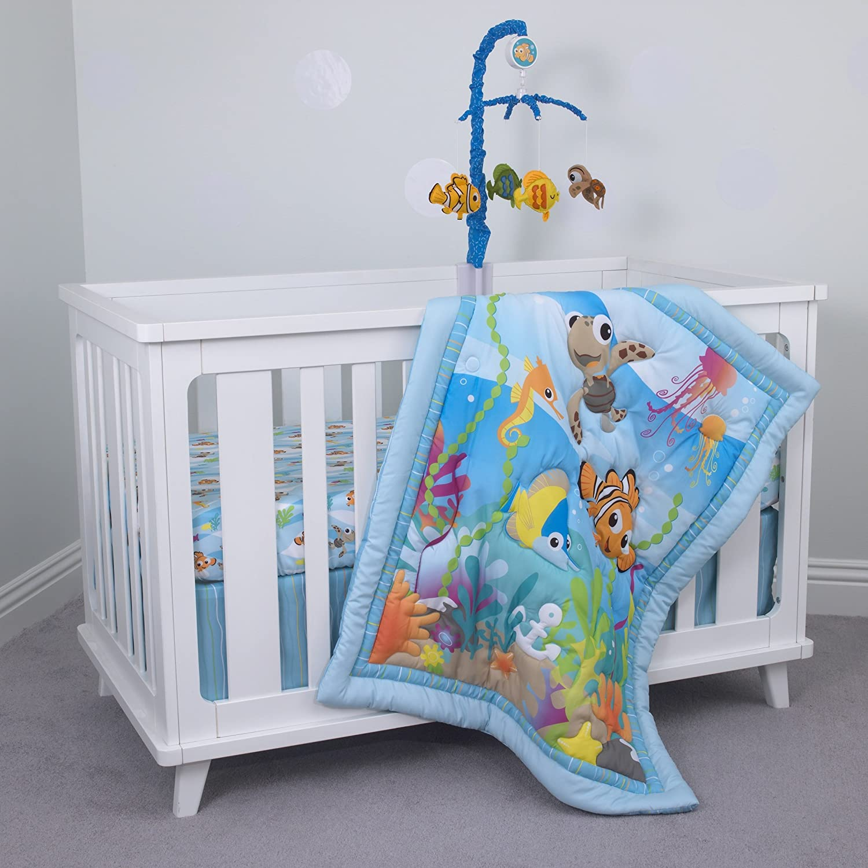 Disney Dumbo Juego de cama de 3 piezas para cuna, Aqua/Verde ...