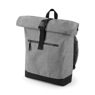 1013c5d55581c Bagbase Roll-Top Rucksack (12 Liter) (Einheitsgröße) (Grau meliert)   Amazon.de  Bekleidung