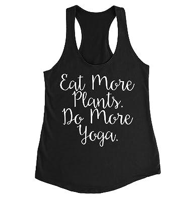 FUNKI SHOP Eat More Plants Do More Yoga Tank for Vegans