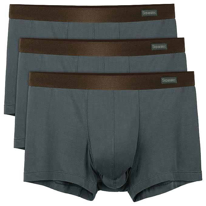 Calzoncillos de Hombre Ropa Interior Masculina Separatec Paquete de 7pcs Gayumbos Básico Suaves y Respirables (