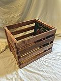 Vinyl Record Holder Wood Crate