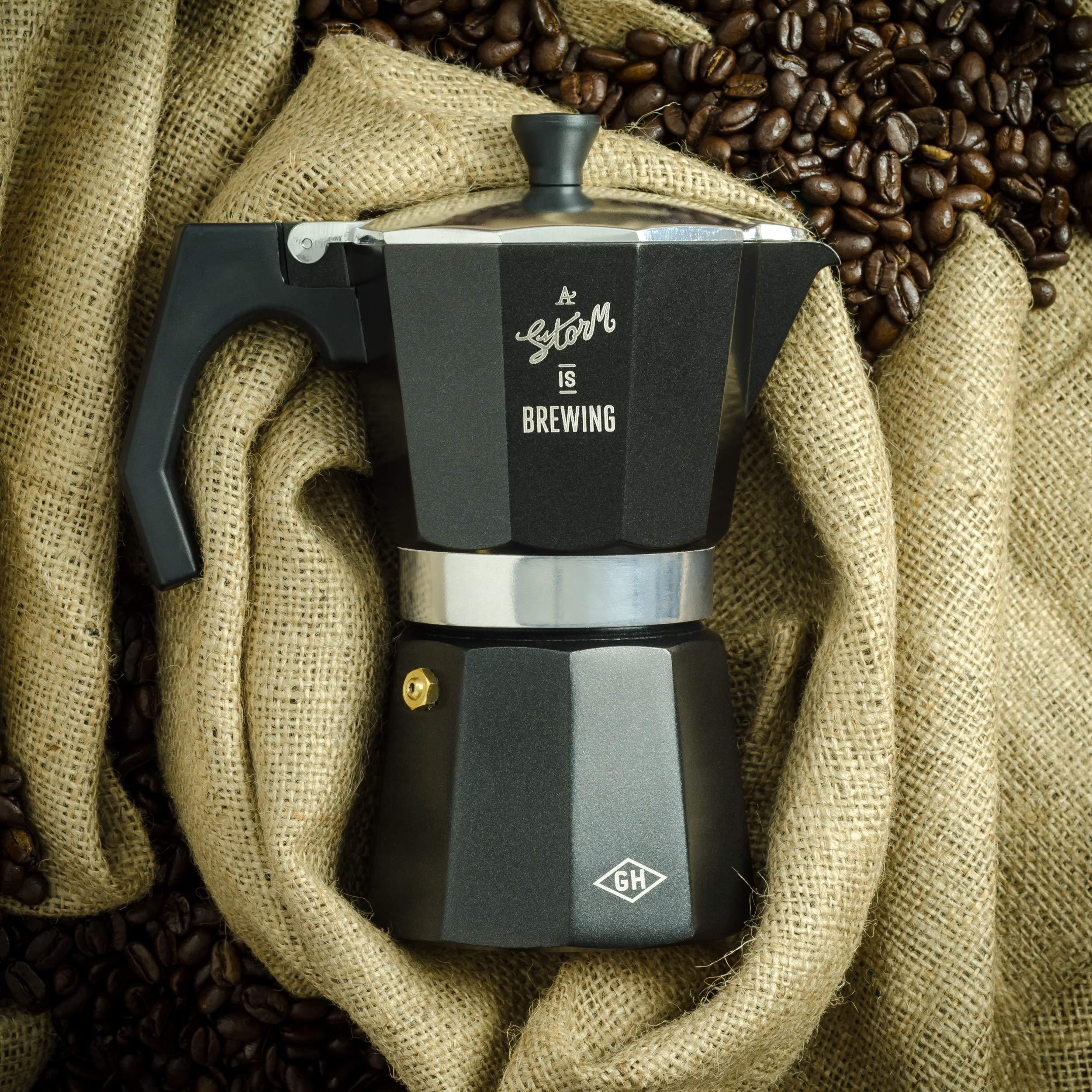Gentlemen's Hardware Stovetop Coffee Maker, Black