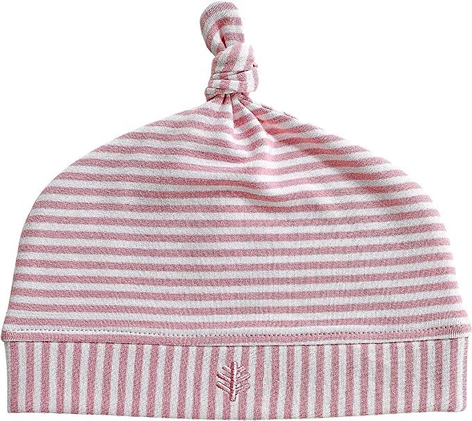 Amazon.com  Coolibar UPF 50+ Baby Beanie Hat - Sun Protective (One Size-  Pink White Stripe)  Clothing 4bbaf703f2f