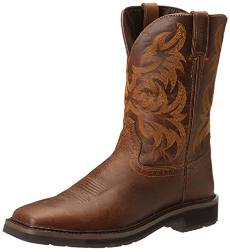 0b2c00d465b Justin Original Work Boots Men's Stampede Pull-On Square Toe Work Boot