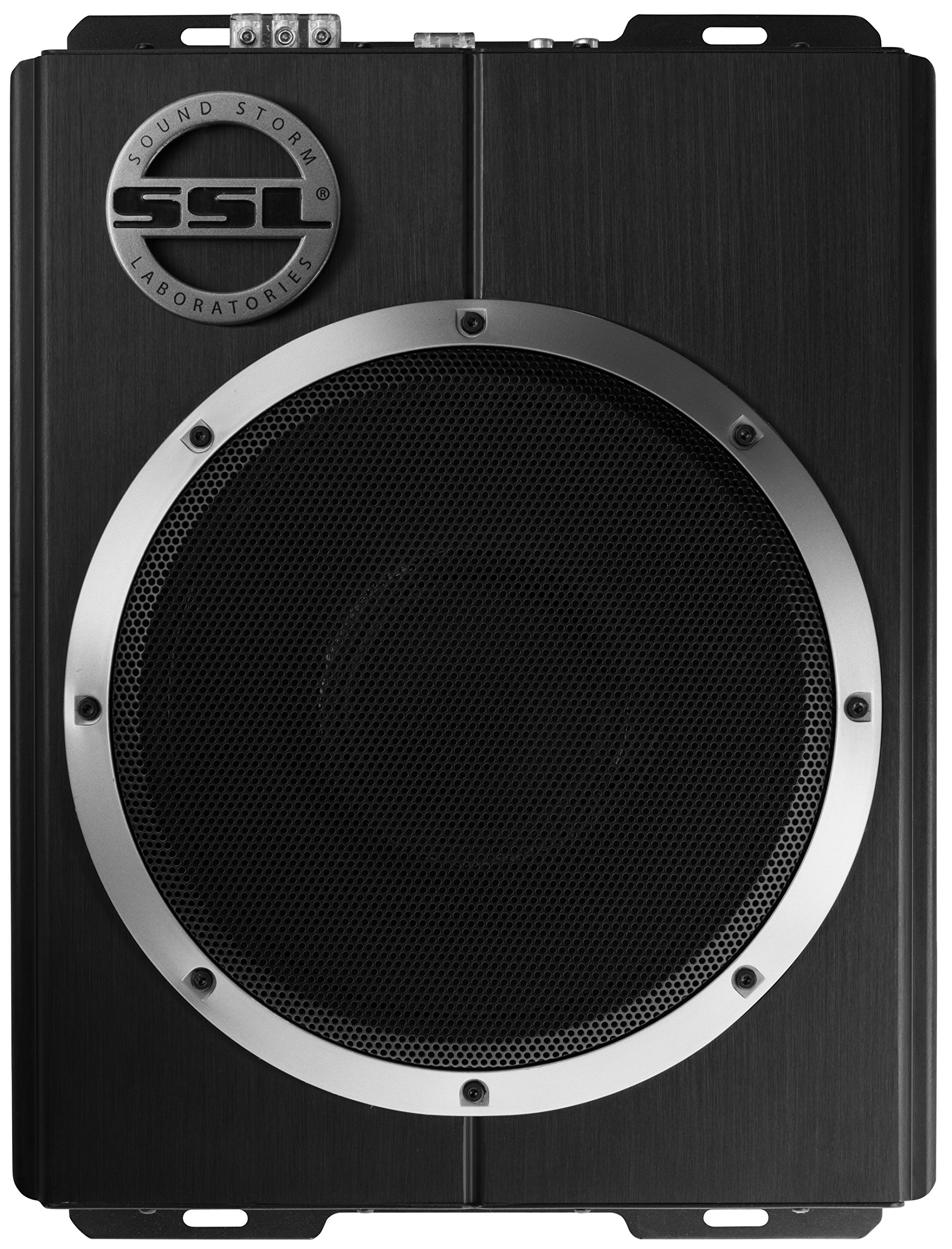 Sound Storm LOPRO10 1200 Watt Low Profile Amplified 10 Inch Car Subwoofer with Remote Subwoofer Control