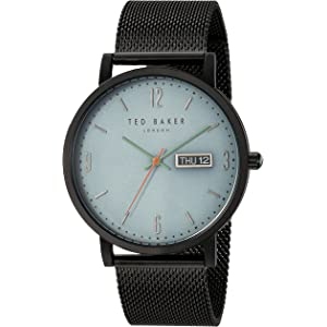 73fcb929a223b Amazon.com  Ted Baker Men s Trent Stainless Steel Quartz Watch with ...