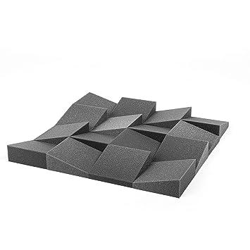 Pack de 32 cuñas de espuma acústica de alta densidad. Piezas de 15x15cm, 6