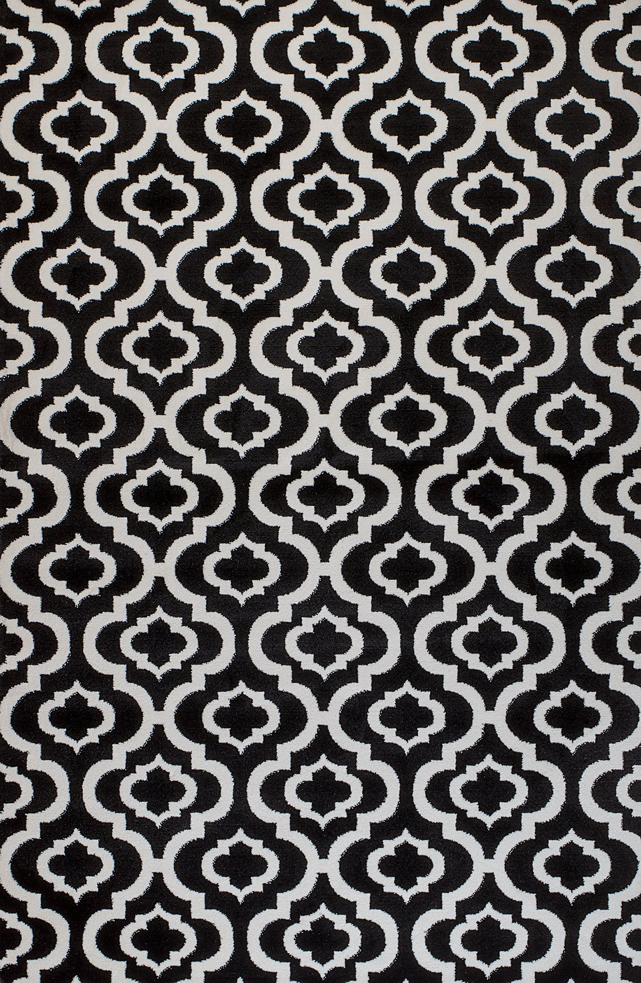 Summit OK-17VA-WDMW 25 New Black White Trellis Lattice Modern Abstract Many Size Available , 22 INCH X 35 INCH SCATTER RUG DOOR MAT SIZE