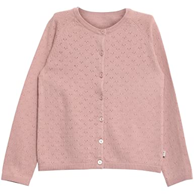 33628a24244 Wheat Girl's Knit Cardigan Maja, Pink (Rose Powder 2487), 104 cm ...