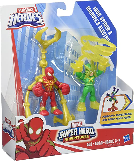 Playskool Marvel Super Hero Adventures ELECTRO Clear Yellow Electricity /& Green