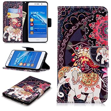 Mosoris Funda para Huawei Y7 PU Leather Flip Cover + TPU ...