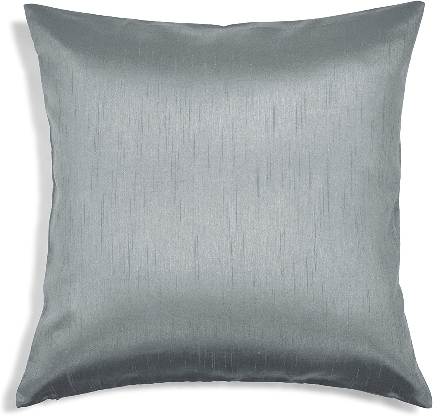 Aiking Home Solid Faux Silk Euro Sham Pillow Cover Zipper Closure 26 By 26 Inches Charcoal Home Kitchen