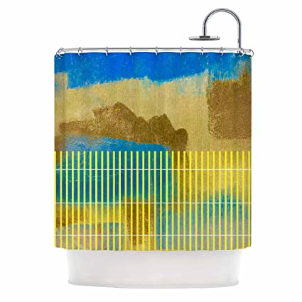 KESS InHouse Trebam Okean Blue Yellow Shower Curtain 69quot