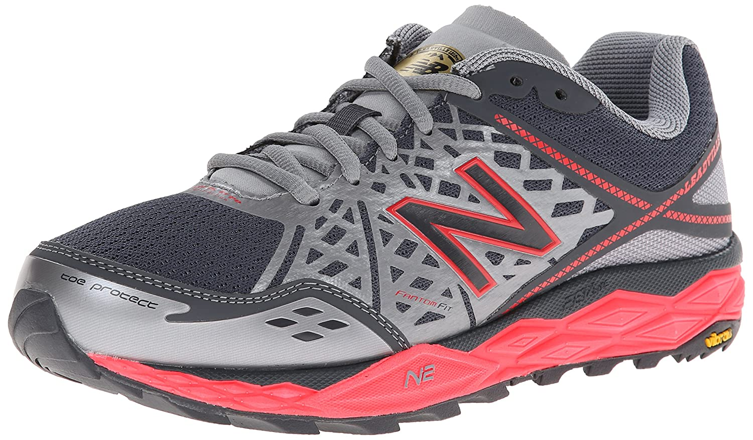 New Balance Women's WT1210 Trail Shoe B00KQ568VE 5.5 B(M) US|Grey/Pink