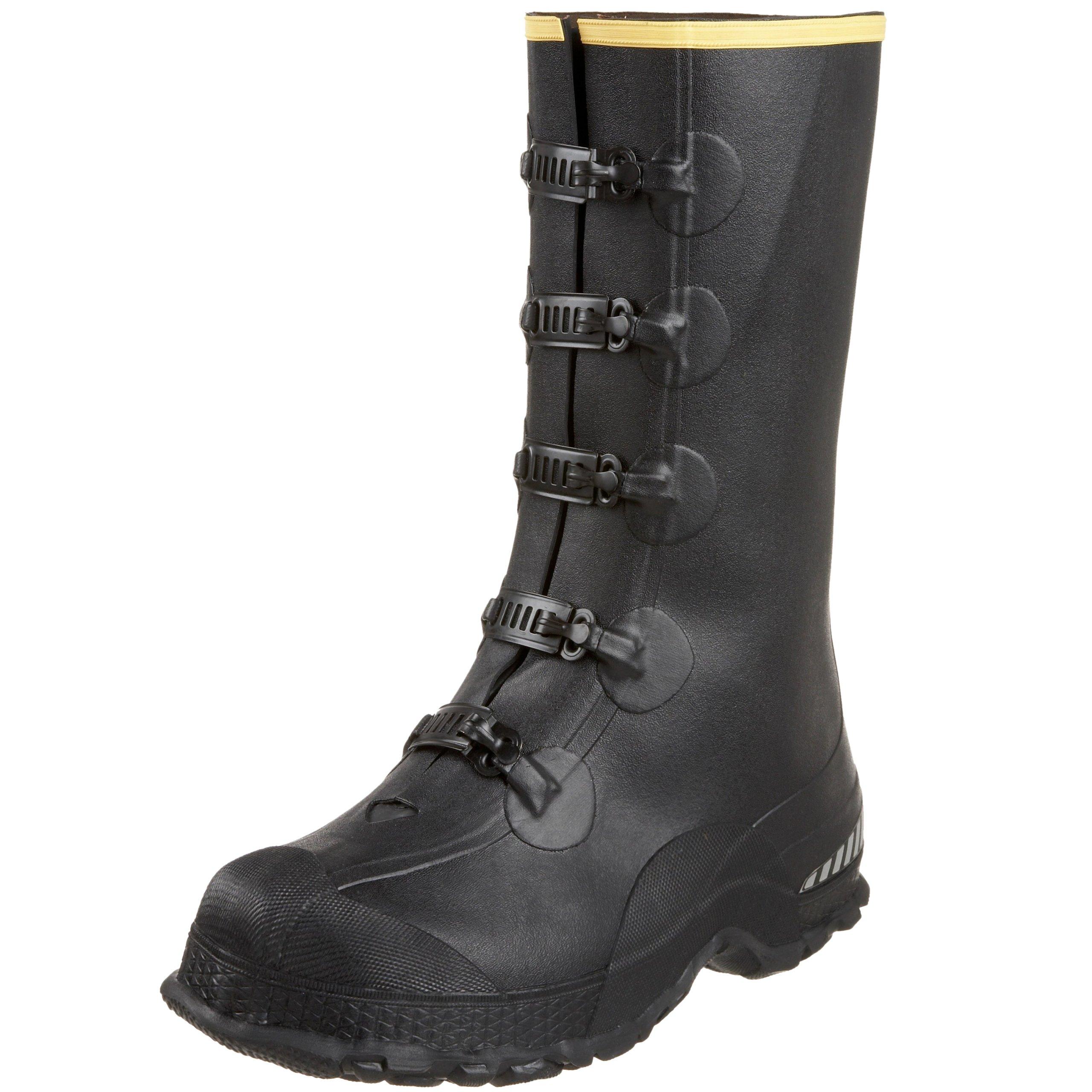 Lacrosse Men's 14'' 5-Buckle Premium Deep Heel Overshoe,Black,11 M US