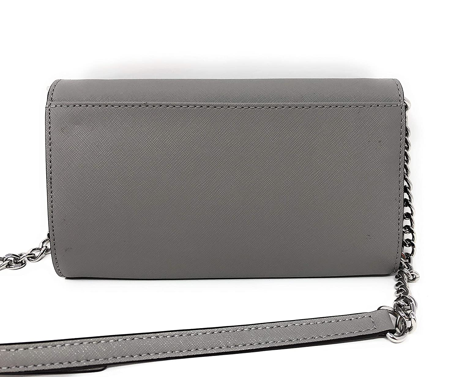 bf3c1097d5f2 Amazon.com  Michael Kor Jet Set Large Phone Crossbody Wallet Pearl Grey  Saffiano  Clothing