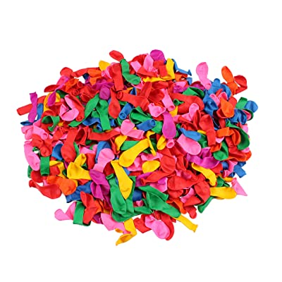 water balloons - water balloon filler - 500 Pack [7] Vibrant Colors - water balloons bulk - Party Supplies: Toys & Games