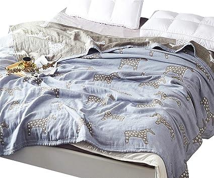 58e51239a0 Scientific Sleep Star Horse Cute Cozy Lightweight Muslin Cotton Blanket  Twin