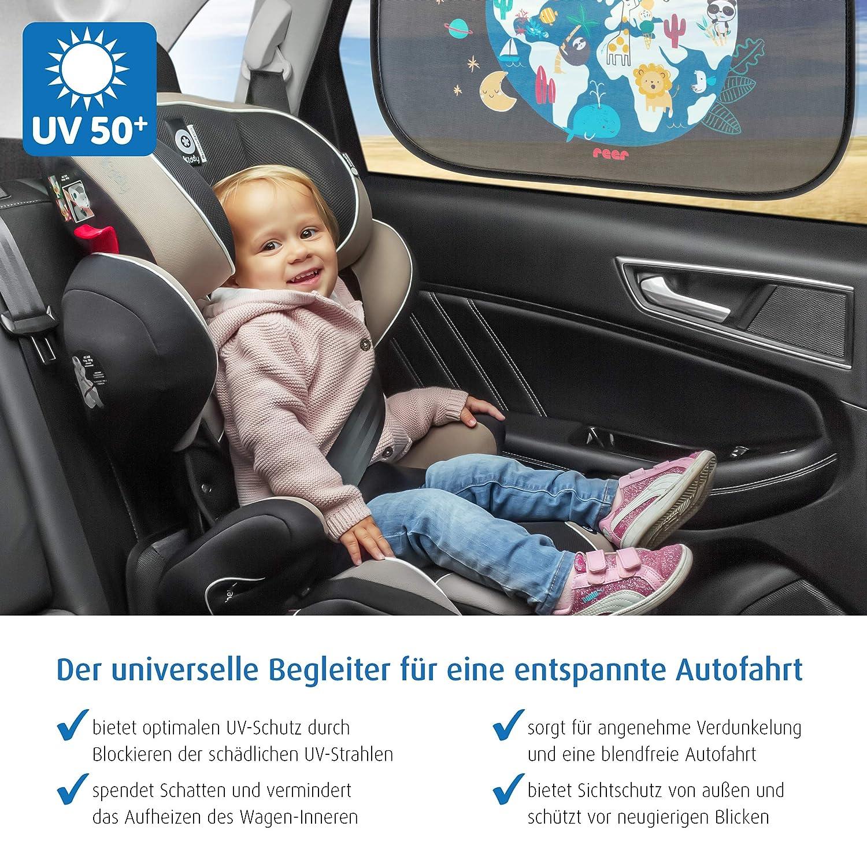 protecci/ón UV color negro Parasol para ventanilla de coche Reer 86112 TravelKid Sun
