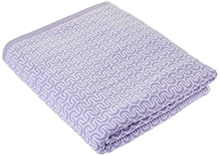 Lasa Home - Toalla de baño, diseño de Zigzag, algodón, Lila, 100 x 150 x 1 cm: Amazon.es: Hogar