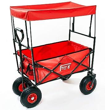 Carro plegable con techo para playa y Offroad, 80 kg, 10 pulgadas Neumáticos,