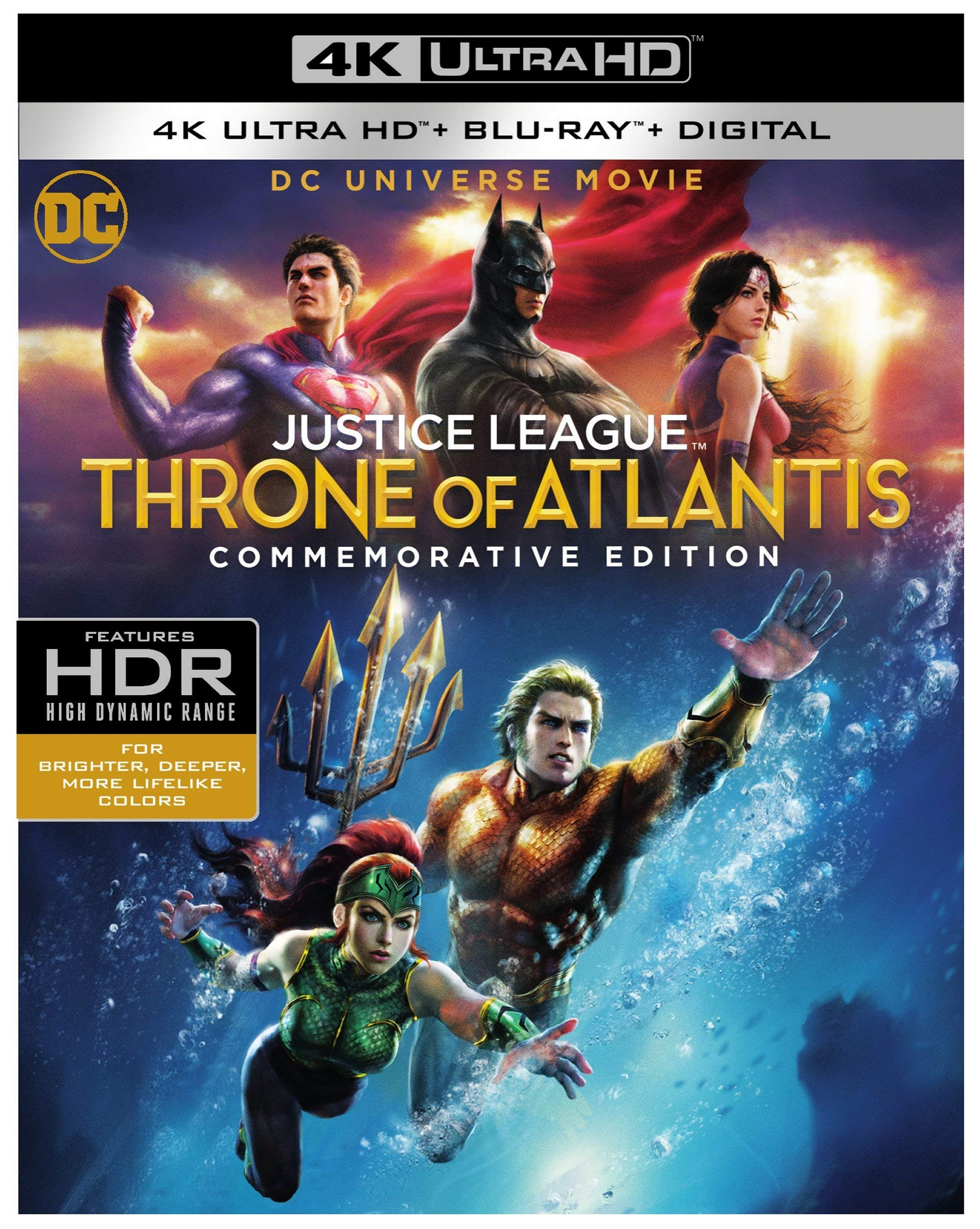 4K Blu-ray : Justice League: Throne Of Atlantis (commemorative Edition) (dcu) (With Blu-ray, 4K Mastering, Digital Copy, Dolby)