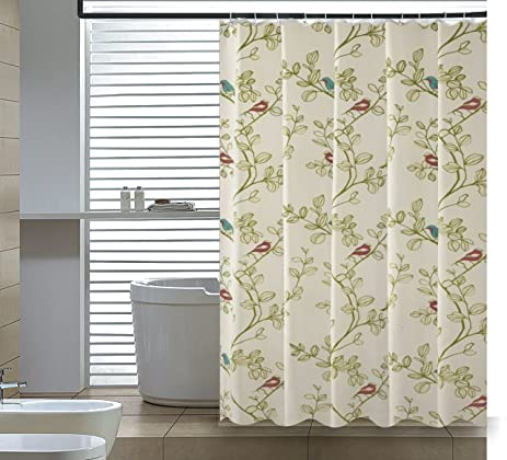 Elegant Home Fashions Shower Curtain Birds