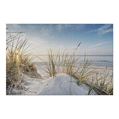White Sand Dunes with Beach Grass at Sunset 9016703 (Premium 1000 Piece Jigsaw Puzzle for Adults, 20x30, Made in USA!): Toys & Games