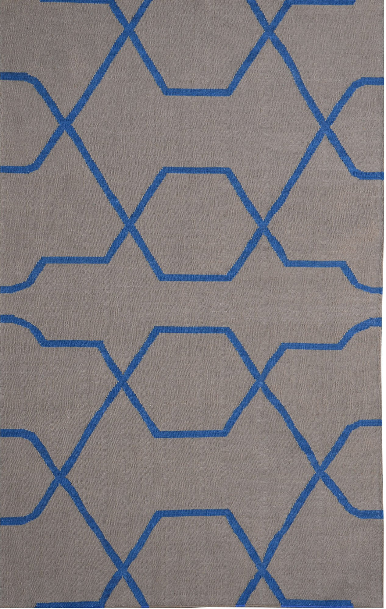 Meva Thai Area Rug, 5-Feet by 8-Feet, Cool Gray by Meva
