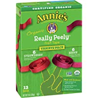 Annie's Organic Strawberry and Berry Peely Fruit Tape, Variety Pack, 12 ct, 9 oz