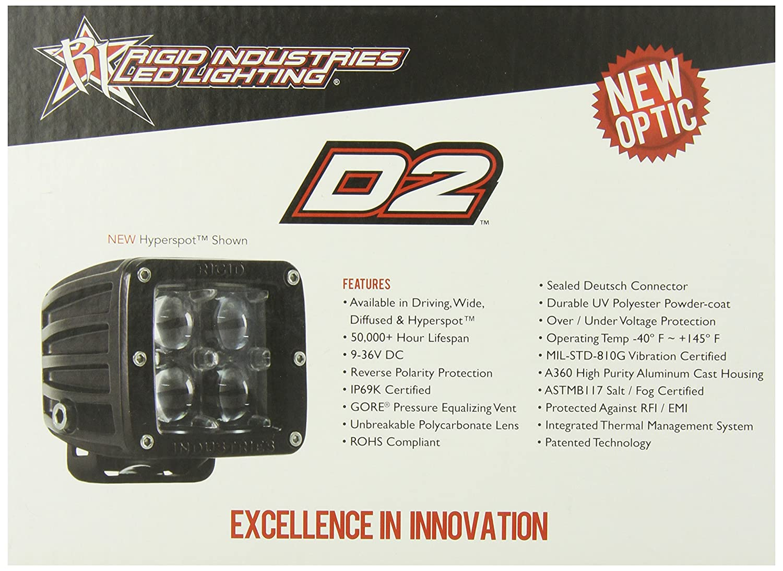 Rigid Industries 50211 D2 Wide Led Light Set Of 2 Porsche Boxster Radio Wiring Automotive