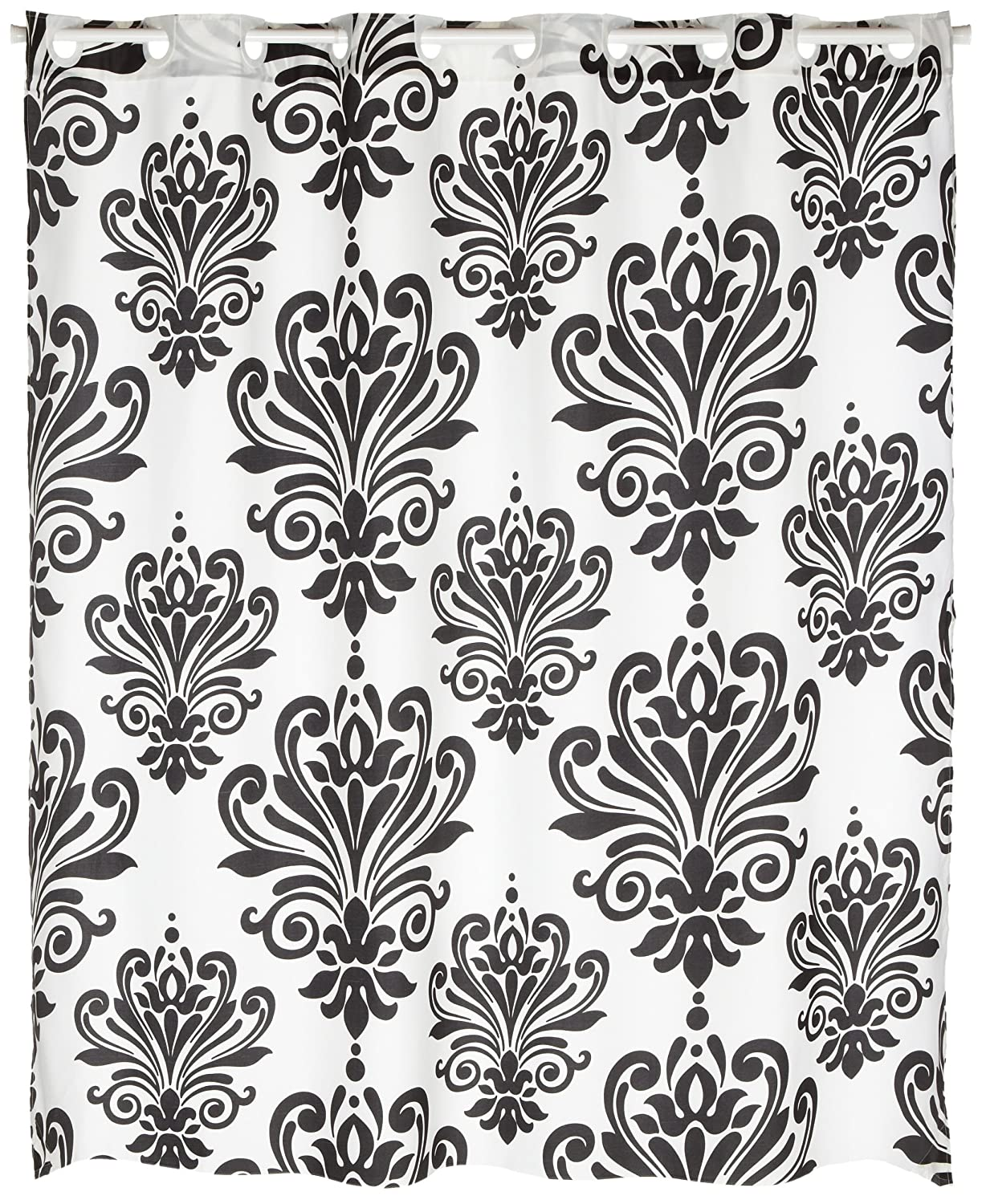 Amazon.com: Carnation Home Fashions EZ On Fabric Shower Curtain, Beacon  Hill: Home U0026 Kitchen