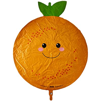 "Betallic ONE 26"" Orange Citrus Fruit New Balloon Party FOIL Produce pals Farmer's Market Veggie Farm Stand: Toys & Games"