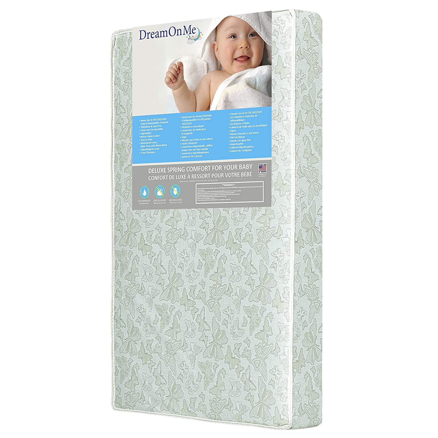 Foam Crib Toddler Bed Mattress Full Size 4 Inches for Standard Non-Allergenic