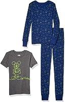 Spotted Zebra by Disney - Boys' Toddler & Kids Mickey Mouse 3-Piece Snug-fit Cotton Pajama Set
