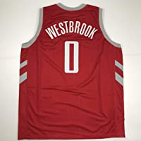 Unsigned Russell Westbrook Houston Red Custom Stitched Basketball Jersey Size Men's XL New No Brands/Logos photo